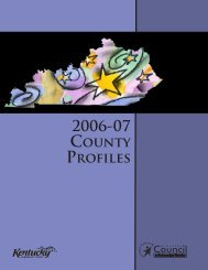 2006-2007 County Profiles - Council on Postsecondary Education