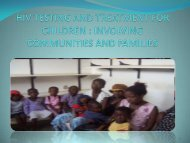 HIV Testing and Treatment for Children – Involving Communities