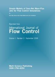 Simple Models of Zero-Net Mass-Flux Jets for Flow ... - Dynaflow, Inc.