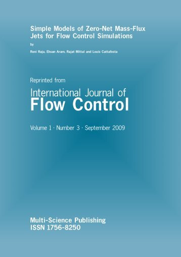 Simple Models of Zero-Net Mass-Flux Jets for Flow ... - Dynaflow, Inc.