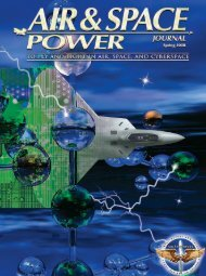 Spring 2008 - Air & Space Power Chronicles - Air Force Link
