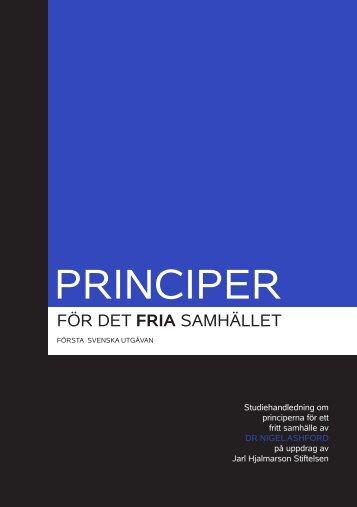 PRINCIPER - Jarl Hjalmarson Foundation