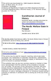 The Nordic Welfare State in Finland