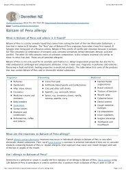 Balsam of Peru contact allergy. DermNet NZ - Dr-baumann ...