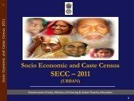 Socio Economic and Caste Census SECC - 2011 - Ministry of ...
