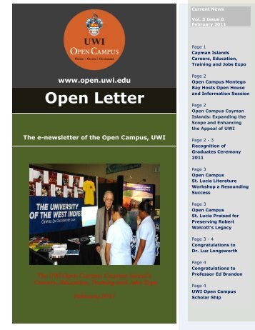 Open Letter - Open Campus - Uwi.edu