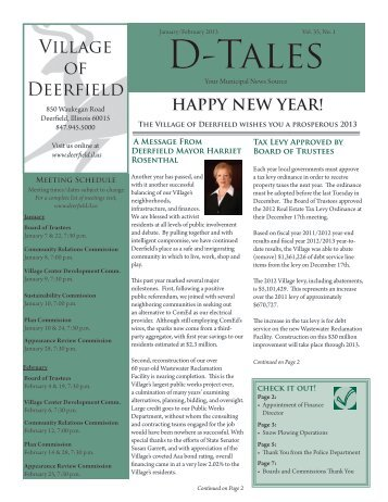 The January/February 2013 Issue of D-Tales Is Now Available