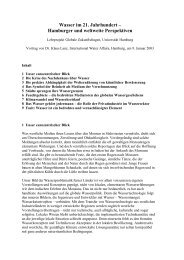 Wasser im 21. Jahrhundert – Hamburger und weltweite Perspektiven