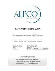 PAPP-A Ultrasensitive ELISA - ALPCO Diagnostics