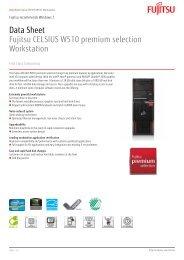 Data Sheet Fujitsu CELSIUS W510 premium selection Workstation