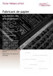 Fabricant de papier - Institut National des Métiers d'Art