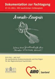 Dokumentation der Fachtag Kinderarmut - Regionalverband ...