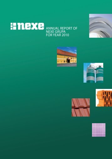 ANNUAL REPORT OF NEXE GRUPA FOR YEAR 2010