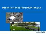 Manufactured Gas Plant Program - National Grid