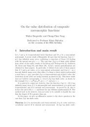 On the value distribution of composite meromorphic functions