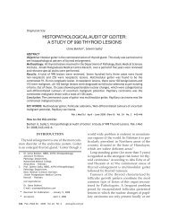 HISTOPATHOLOGICAL AUDIT OF GOITER: A STUDY OF 998 ...