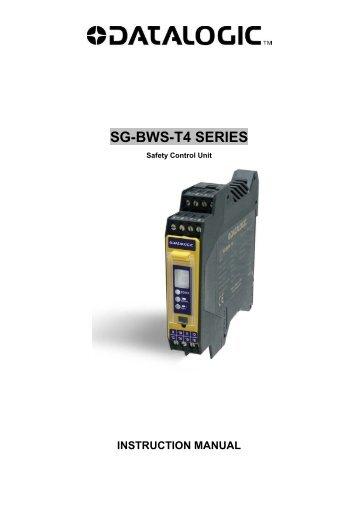 SG-BWS-T4 SERIES - Datasensor