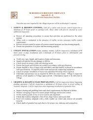 Appendix - Subdivision Inspection Checklist - Village of Burr Ridge