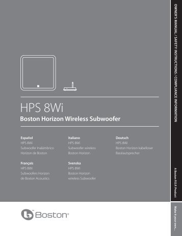 HPS 8Wi - Boston Acoustics