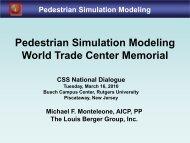 World Trade Center Memorial Pedestrian Simulation Modeling Study