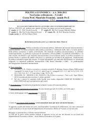 Corso Prof. Maurizio Franzini, canale Pe-Z - Dipecodir.it