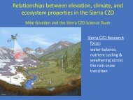 Relationships between elevation, climate, and ecosystem ... - CUAHSI