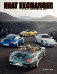 AUGUST 2008 - Shenandoah Region Porsche Club of America