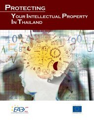 Protecting your Intellectual Property in Thailand - ananda-ip.com