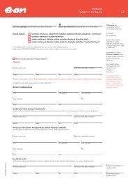 Žádost o smlouvu / domácnosti - E.ON