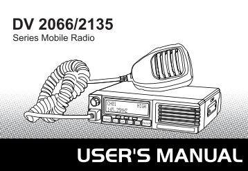 DV-2135 Manual (PDF) - Two Way Radios South Africa