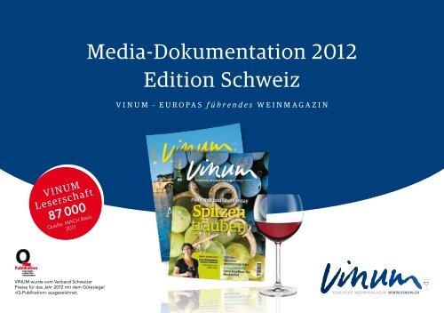 Media-Dokumentation 2012 Edition Schweiz