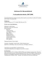 Sektionen för läkemedelskemi Verksamhetsberättelse 2007/2008