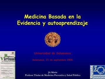 Medicina Basada en la Evidencia y autoaprendizaje - Bibliotecas ...