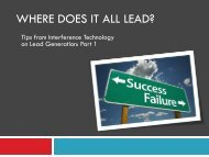 Tips from ITEM Media on Lead Generation: Part 1 - Interference ...