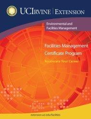 Facilities Management Brochure - UC Irvine Extension - University of ...