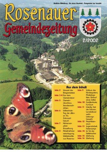 02. Ausgabe 2002 - Rosenau am Hengstpaß - Land Oberösterreich