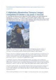 L'alpinista altoatesina Tamara Lunger