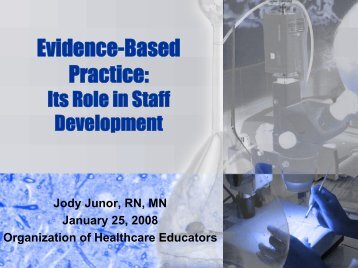 What is Evidence-Based Practice? - OHE