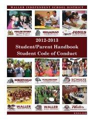 Student/Parent Handbook & Code of Conduct - Waller ISD - Website