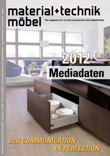 Mediadaten 2012 The magazine for furniture production and related ...