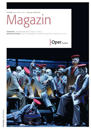 Opernmagazin Januar / Februar 2011 - Oper Frankfurt