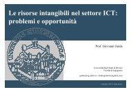 Le risorse intangibili nel settore ICT: problemi e opportunità - Aica