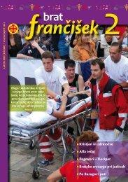 Urednikova beseda bf 2/2012 - Frančiškani v Sloveniji
