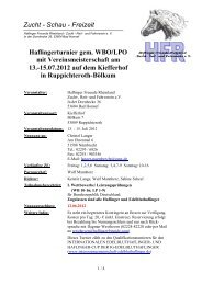 Ausschreibung Hfr-Turnier 2012