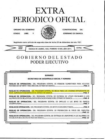 PERIODICO OFICIAL. - Secretaría de Desarrollo Social y Humano