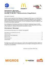 Informationen / Weisungen 10. Aargauer sCOOL-Cup 2013 ...