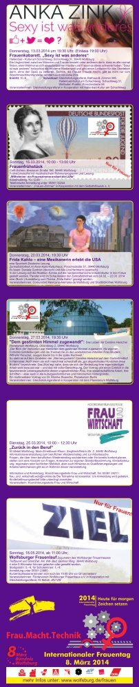 Ausführliches Programm zum Internationalen Frauentag ... - Wolfsburg