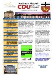 CDU-Newsletter vom 13.12.2010 - CDU-Kreisverband Bonn