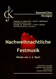Nachweihnachtliche Festmusik mit Werken von J. S. Bach