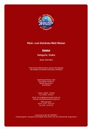 Katalog für Kategorie: Vodka - und Getränke-Welt Weiser